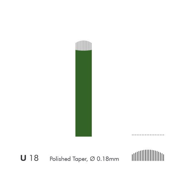 Microblade needles 18 U 18mm